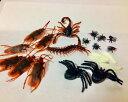 【送料無料】リアル虫 いたずらおもちゃ 偽ゴキブリ スパイダー ムカデ サソリ ハエ 全25個ジョーク玩具
