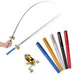 【送料無料】リール付きペン型釣り竿釣り道具初心者竿リールコンパクトロッド