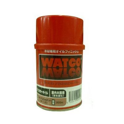 ●☆期間限定☆はけ付き ワトコオイル ダークウォルナット W-13 [200ml] WATOCO・家具・壁面・建具・オイルフィニッシュ
