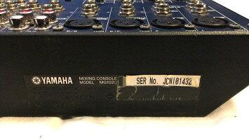 ミキサーYAMAHA(ヤマハ)MG102C中古品新品アダプター付属