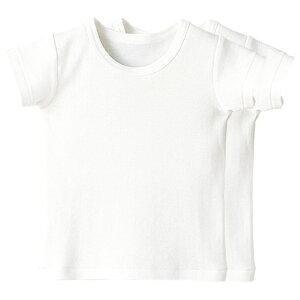 《コンビミニ》半袖Tシャツ2枚組 : 男の子 女の子 80cm 90cm 100cm 110cm 120cm 130cm | 肌着 肌着セット キッズ 子供 子供服 半袖 夏服 100 綿 インナー 女児 男児 ウェア 白 ティーシャツ ベビー服 下着 子ども トップス tシャツ ボーイズ ガールズ