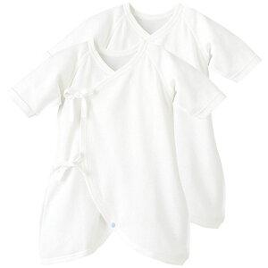 fe82ae687225a  20%OFF コンビ肌着2枚組   50cm 60cm 70cm   赤ちゃん下着 Pup   ベビー 子供 新生児服 肌着 肌着セット 男の子  女の子 7分袖 オフホワイト ベ.