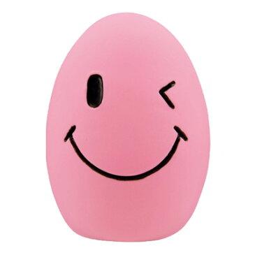 ラテックストイ スマイルエッグ イエロー/ピンク/ブルー 【わんこおもちゃ・笛入り】