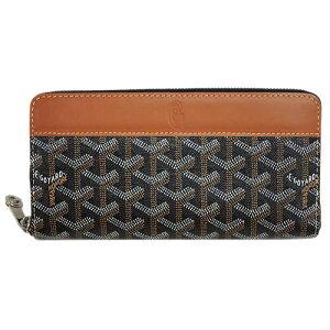 [300 yen OFF coupon ★] Goyar wallet long wallet round fastener zip GM PTE.FEUILLE MATIGNON natural (black x brown) music for tomorrow