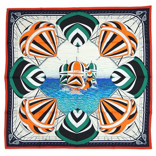 HERMES scarf 90 x 90 90 SPINNAKERS 27447 5
