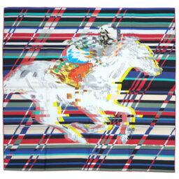 エルメス スカーフ HERMES ソルド カレ ツイル シルク100% 90CMS PHOTO FINISH フランボワーズ/グレー/ブルー 27454