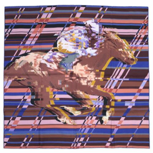 エルメス スカーフ カレ 90 ツイル PHOTO FINISH フランボワーズ/グレー/ブルー 27455【あす楽対応】【YDKG-tk】 カード分割:ブランド・COME