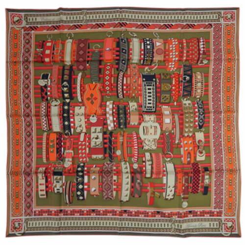 HERMES scarf 90 x 90 HERMES 90CMS 100 COLLIERS D...