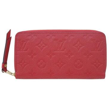 ルイヴィトン 財布 M63691 LOUIS VUITTON ヴィトン モノグラム・アンプラント LV ラウンドファスナー長財布 ジッピー・ウォレット スカーレット 専用箱付き キャッシュレスで5%還元!