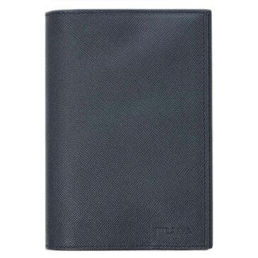 プラダ パスポートカバー 2M1357 PRADA カードケース サッフィアノ BALTICO バルティコ カーフネイビー アウトレット わけありセール