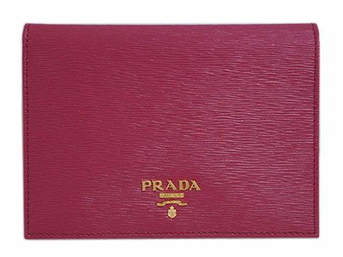 プラダ パスポートカバー 1MV412 カードケース GLロゴ ヴィテッロ ムーブ IBISCO イビスコ カーフダークピンク アウトレット 【あす楽対応】【YDKG-tk】 カード分割:ブランド・COME