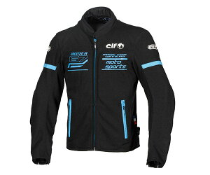 あす楽 エルフ/elf フレッドメッシュジャケット バイク/メンズ/春夏 ブルー LLサイズ EJ-S102