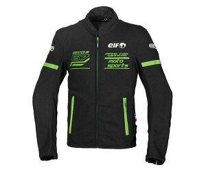 あす楽 エルフ/elf フレッドメッシュジャケット バイク/メンズ/春夏 グリーン Mサイズ EJ-S102