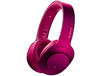 【中古】ソニー SONY ワイヤレスノイズキャンセリングヘッドホン h.ear on Wireless NC MDR-100ABN : Bluetooth/ハイレゾ対応 マイク付き ボルドーピンク