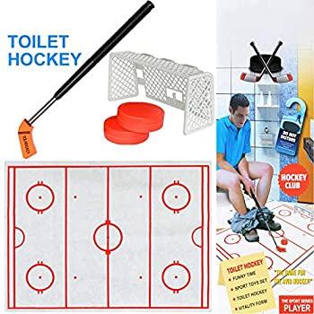 【中古】Aylincool?トイレホッケーゲーム減圧楽しいゲームアイスホッケー玩具、アイスホッケー玩具ホッケーゲーム減圧面白いトイレゲーム子供のためのギ