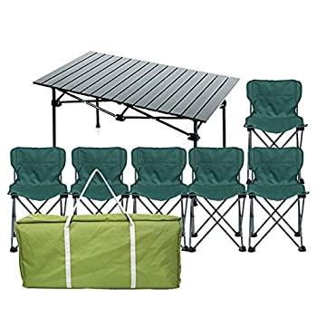 【中古】BETTY Tables アウトドア折りたたみテーブルとチェアセット ワイルドポータブルバーベキュー3〜7点セット 家庭用アルミテーブルと椅子の組み合わ画像