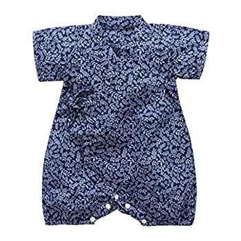 【中古】Tivivose 温泉服 ベビー 服 浴衣 人気 シンブル 無地 DIY (0-26M)ベビー ロンパースストラップレトロ和風浴衣バッグおなら 着物 ジャン プスー