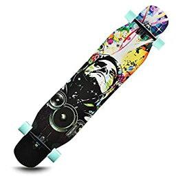 【中古】スポーツアウトドア標準スケートボードロングボード スケートボード、四輪ダブルロッカーロードブラシストリートスケートボード大人の子供たちと