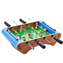 【中古】ミニ4本のロッドフットボールマシン子供のおもちゃデスクトップサッカーゲーム木製のサッカー表パーティーPKゲーム親子の相互作用のおもちゃ
