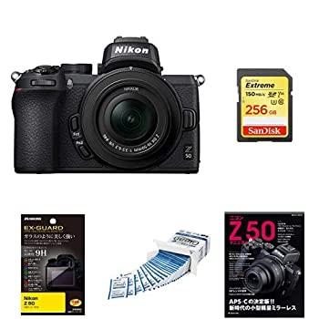 【中古】Nikon ミラーレス一眼カメラ Z50 レンズキット Z50LK16-50 ブラック + アクセサリー4点(SDカード、液晶保護フィルム、レンズフィルター、レンズ