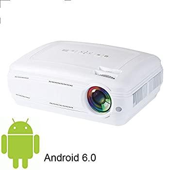 【中古】スマートLEDプロジェクターLCD 3500ルーメン1280x768 Android 6.0 WIFI Bluetooth 1080P LEDスマートゲームビデオホームシアターレッド&ブルー3