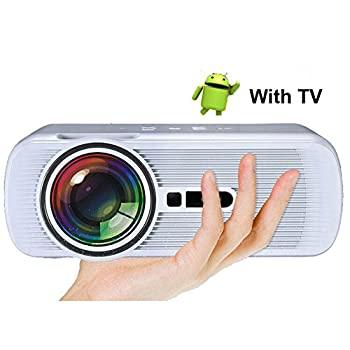 【中古】Android Miracast WiFiディスプレイ1800Lumen HD LEDプロジェクターサポート1080P Bluetooth LCDビデオビーマーホームシアター映画館