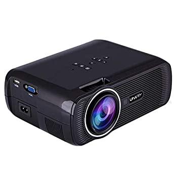 【中古】Yan U80ポータブルホームシアター1080P LED HDミニデジタルプロジェクター、HDMI、VGA、USB(黒)をサポート (色 : Black)