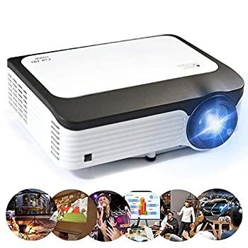 【中古】ビデオプロジェクター L6 5インチ200 ANSIルーメン1920 x 1080 P Android 7.1 HD Bluetooth 4.0 WiFi HDスマートプロジェクター、サポートAV/VGA