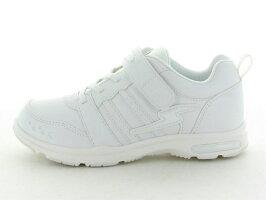 ムーンスターSSJ754『バネのチカラ』スーパースタージュニアガールズヒモマジック合皮タイプ女児通学履き白靴