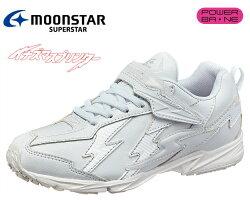 ムーンスターSSJ756『バネのチカラ』スーパースタージュニアボーイズヒモマジック男児合皮タイプ通学履き白靴