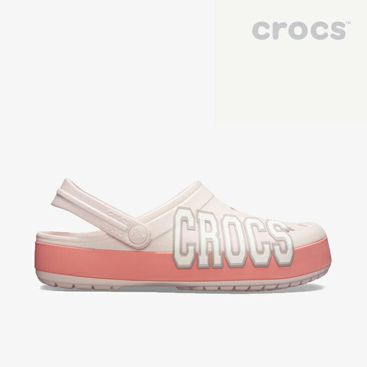 ・クロックス《ユニセックス》クロックバンド ロゴ クロッグ/バレリーピンク メロン/ CROCS/Crocband Logo Clog/BarelyPink Melon #画像