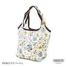 エコバッグSサイズ折りたたみレディースコンパクトおしゃれキャラクター買い物袋カバンスヌーピーシフレECO0119-PN
