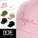【20%OFF】DOPE ドープ キャップ 帽子 6パネル ローキャッ...