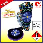 パターカバー ピンタイプ コモコーメ 花柄スワロフスキー フローラル