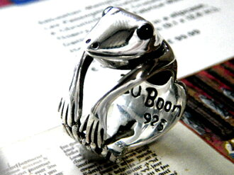 ■ frog like absolute Hummel ■ ファニーフロッグリング カエルグッズ accessory power stone Black Star kelling silver ring ring カエルモン frog je animal frog animal 10P02jun13