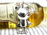 ■クタクタカエルに癒されます!■フロッグムービングペンダント【ペリドッド】カエルグッズアクセサリーパワーストーンペリドッドシルバーペンダントネックレスカエルの為に鐘は鳴るカエルモンカエル帝アニマルカエル動物癒し系送料無料