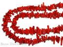 カットビーズ 赤珊瑚 40cm (約10x4mm) パワーストーン 天然石 アクセ...