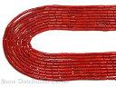 カットビーズ 赤珊瑚 筒型 (約3×7mm) ※5の付く日セール※ パワーストー...