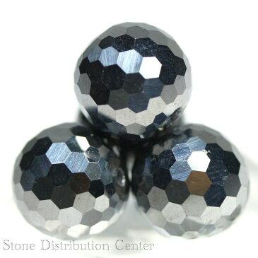 【カットビーズ】テラヘルツ鉱石 ミラーボールカット 3粒セット12mm 【パワーストーン 天然石 アクセサリー 1連売り】