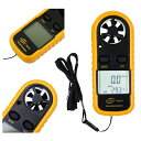 風速計 計測器 温度計 [電池1個付き] 気象メーター 計測器 温度計 小型 気温 工具 計測用具 秒速 最大風速 平均風速 並行輸入品 ネコポス