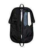 スーツや衣装の持ち運びに!ガーメントバッグ出張冠婚葬祭撥水加工ブラック
