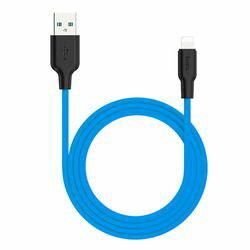 日本トラストテクノロジー X21P-IP10-BL hoco X21Plus シリコン充電ケーブル iOS 1.0m ブルー 取り寄せ商品