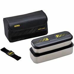 THERMOS(サーモス) フレッシュランチボックス 2段式 1100ml (ブラック)(DSD-1101W-BK) 取り寄せ商品