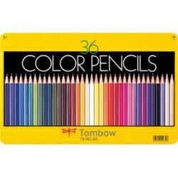 トンボ鉛筆 缶入色鉛筆 36色 NQ CB-NQ36C 目安在庫=○