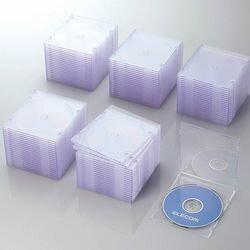 【P5E】エレコム CD/DVDスリムプラケース/1枚収納/100パック/クリア CCD-JSCS100CR(CCD-JSCS100CR) メーカー在庫品