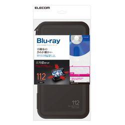 【P5E】エレコム CD/DVD/Blu-rayケース/セミハード/ファスナー付/112枚収納/ブラック(CCD-HB112BK) メーカー在庫品