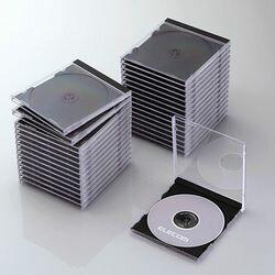 【P5E】エレコム CD/DVDプラケース/1枚収納/30パック/ブラック CCD-JSCN30BK(CCD-JSCN30BK) メーカー在庫品