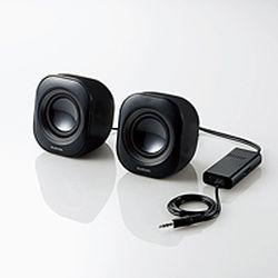 エレコム コンパクトスピーカー/6W/AC電源/ブラック MS-P08ABK(MS-P08ABK) メーカー在庫品