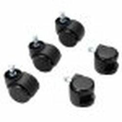 ロアス OAチェア用ウレタンキャスター ブラック CA-CU01BK 取り寄せ商品