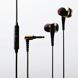 エレコムステレオヘッドホン/マイク/カナル/ハイレゾ/12.5mm/CH2000/ゴールド(EHP-CH2000SGD)メーカー在庫品